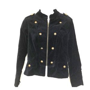 Apt. 9 velvet black military style blazer sz 10